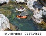 april 17  2015 la ceiba ... | Shutterstock . vector #718414693