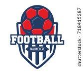shield football logo emblem | Shutterstock .eps vector #718415287
