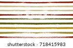 retro seamless watercolor... | Shutterstock .eps vector #718415983