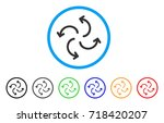 cyclone arrows rounded icon.... | Shutterstock .eps vector #718420207