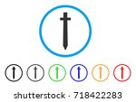 symbolic sword rounded icon.... | Shutterstock .eps vector #718422283