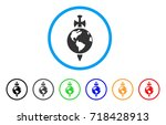 earth guard rounded icon. style ... | Shutterstock .eps vector #718428913