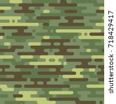 military camouflage seamless... | Shutterstock .eps vector #718429417