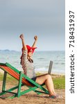 beautiful women are using a... | Shutterstock . vector #718431937