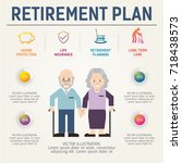 aging population info graphic.... | Shutterstock .eps vector #718438573