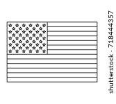united states of america flag | Shutterstock .eps vector #718444357