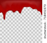 dripping blood on transparent... | Shutterstock .eps vector #718452373