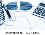 financial charts and graphs on... | Shutterstock . vector #71845348