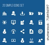set of 20 editable internet...