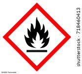 hazardous warning. warning sign.... | Shutterstock .eps vector #718460413