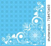 vector vintage floral ... | Shutterstock .eps vector #718471603
