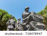 canakkale martyrs' memorial is...   Shutterstock . vector #718478947