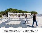 canakkale martyrs' memorial is...   Shutterstock . vector #718478977