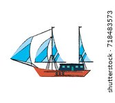 ship with sails icon image | Shutterstock .eps vector #718483573