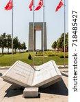 canakkale martyrs' memorial is...   Shutterstock . vector #718485427