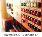 electrical signal alarm board... | Shutterstock . vector #718488517