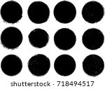 grunge post stamps collection ... | Shutterstock .eps vector #718494517