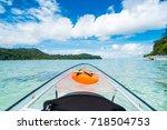 transparent canoe kayak in...   Shutterstock . vector #718504753