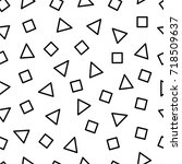 seamless pattern with triangles ... | Shutterstock .eps vector #718509637