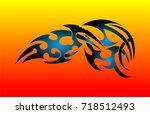 tribal tattoo | Shutterstock .eps vector #718512493