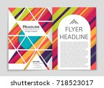 abstract vector layout... | Shutterstock .eps vector #718523017