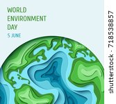 world environment day concept.... | Shutterstock . vector #718538857