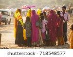 pushkar  india  19 november... | Shutterstock . vector #718548577
