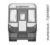 wagon  single icon in... | Shutterstock .eps vector #718548847