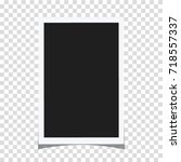 rectangle frame template with... | Shutterstock .eps vector #718557337