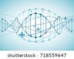 science template  wallpaper or... | Shutterstock .eps vector #718559647