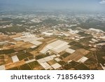 agricultural greenhouse area... | Shutterstock . vector #718564393