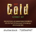 stylish stylized golden and... | Shutterstock .eps vector #718566967