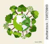 eco friendly. ecology concept... | Shutterstock .eps vector #718570843