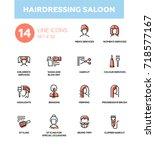 hairdressing saloon   modern... | Shutterstock .eps vector #718577167