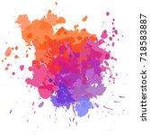 watercolor rainbow spot  vector ...   Shutterstock .eps vector #718583887