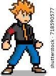 pixel art male character 8 bit...