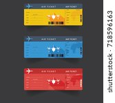 pattern of airline boarding... | Shutterstock .eps vector #718596163