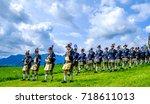 gaissach  germany   august 20 ... | Shutterstock . vector #718611013