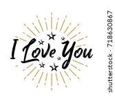 i love you   fireworks  ...   Shutterstock .eps vector #718630867