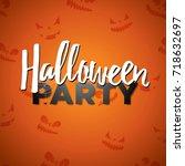 halloween party vector... | Shutterstock .eps vector #718632697