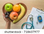 cholesterol diet and healthy... | Shutterstock . vector #718637977