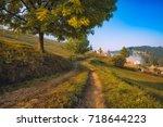 road through the carpathian... | Shutterstock . vector #718644223