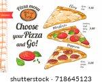 vector slice pizza with tomato  ...   Shutterstock .eps vector #718645123