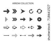 basic arrow collection with... | Shutterstock .eps vector #718661527