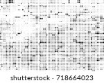 halftone black and white.... | Shutterstock .eps vector #718664023