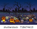 vector illustration of mystery... | Shutterstock .eps vector #718674613