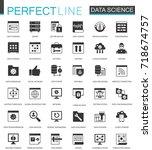 black classic data science ... | Shutterstock .eps vector #718674757