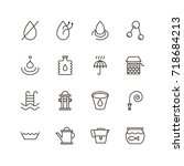 Water Icon Set. Collection Of...