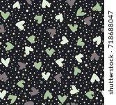 abstract heart seamless pattern ... | Shutterstock .eps vector #718688047