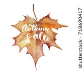 maple leaf with autumn sale...